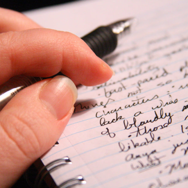 Writing, whether a journal, mission statement or memo of understanding, helps churches doing community outreach.